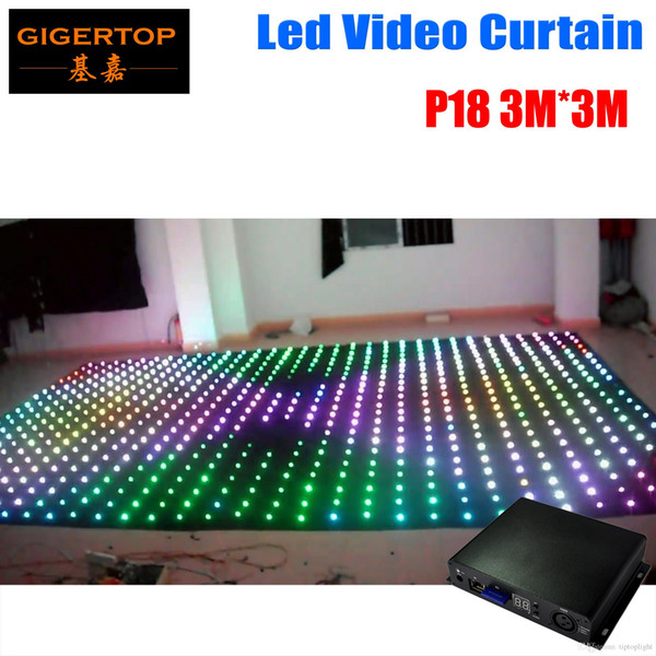 Pitch 18/19/20 To Choose 3M*3M LED Star Curtain For DJ Wedding Backdrops 0 Ring Chain Connection 5mm RGB Full Color Pitch 18cm Distance