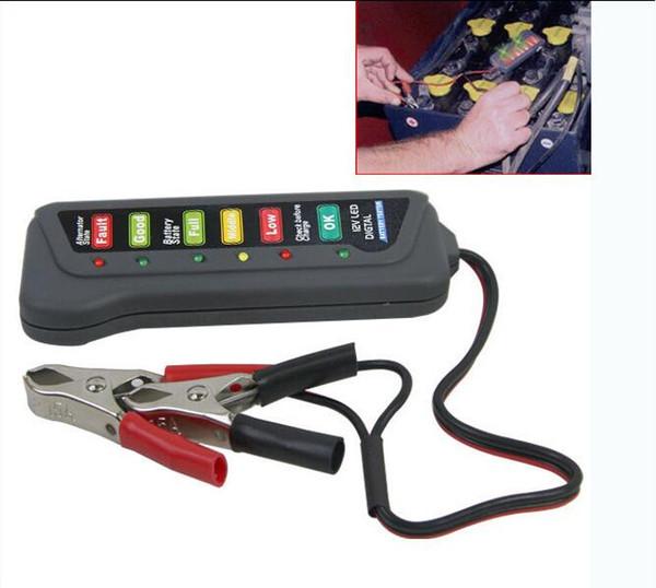 100pcs/lot Digital Display Indicates LED Handheld Storage car electromobile Battery Tester Car 12v Voltage