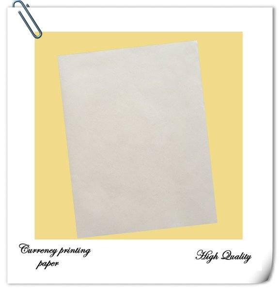 copy paper security printinng paper 75% cotton 25% linen starch free with red and blue fiber waterproof paper a4 size white color