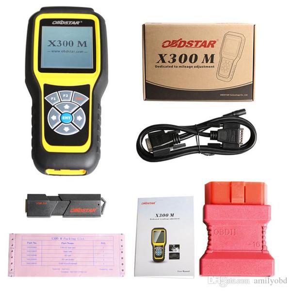 OBDSTAR X300M OBDII Odómetro Correção X300 M Quilometragem Ajustar Atualização Ferramenta de Diagnóstico Por Cartão TF