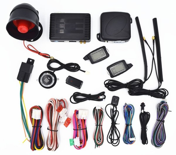 CarBest Vehicle Security Paging Car Alarm 2 Way LCD   Push Engine Start Stop Button   Passive Keyless Entry(PKE)   3300B