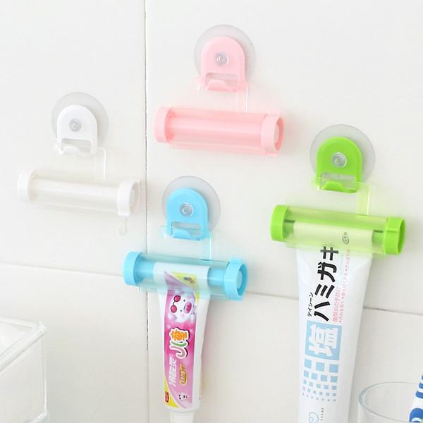 Dispensador de pasta de dientes creativo Hang Squeeze Tube Lazy Automatic Dispositivo de compresión Ventosa Extrusora Pasta de dientes Rack de almacenamiento Hot 1 7hy F