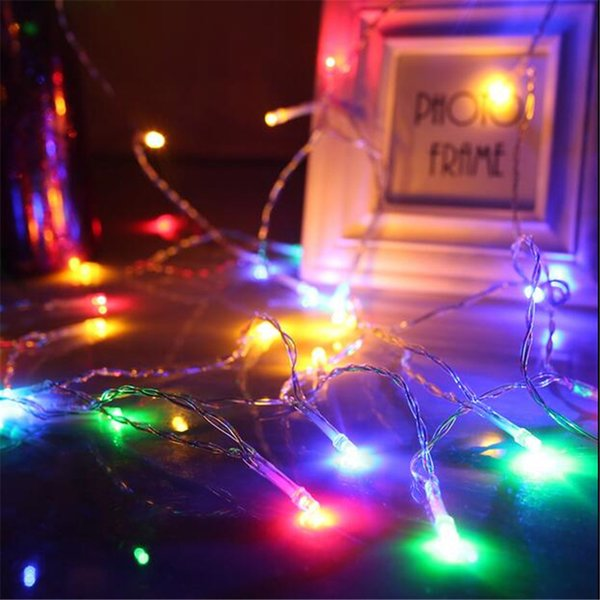 Wholesale- 1.5M 10 Bulbs 2*AA Battery-Operated Christmas Para SalaGarland LED String Light Lustre Household Decoration