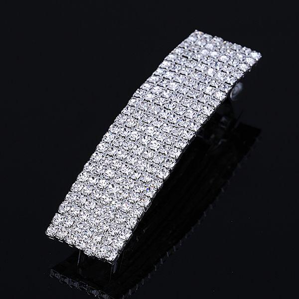 7 Row Rhinestone Hair Clip Barrette Womens Fashion Jewelry Hair Pin Accessories Wholesale Hair Clips & Barrettes Hot Sale
