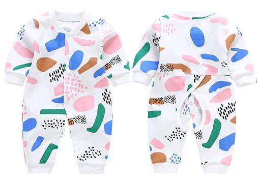 Hot style Children clothing maternity autumn and winter Boy and Girls baby style long sleeve printed kids jumpsuit W17JS319