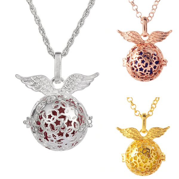 Pregnant women fetal brain training pendants 16mm piano piano pregnant women, wings multiple stars necklace ball box