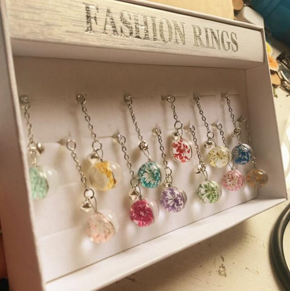Free Ship 24pcs (2 Boxes) Crystal Dried Flower Ball 3.5mm Headset Jack Earphone Anti Dust Plug Dustproof Ear Cap for Cell Phone iPhone