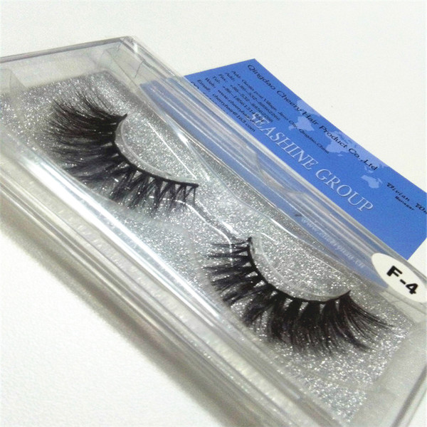 New Handmade Cotton Stalk Water Mink False Eyelashes Thick Curls Messy Cross 3D mink Fake Eyelashes Stage Smoked Makeup Eye Lashes
