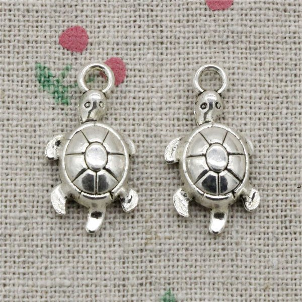 100pcs Charms Antique Silver tortoise turtle sea 23*12mm Pendant Zinc Alloy Charms Pendant DIY Makeing Jewelry Bracelet Necklace Fittings