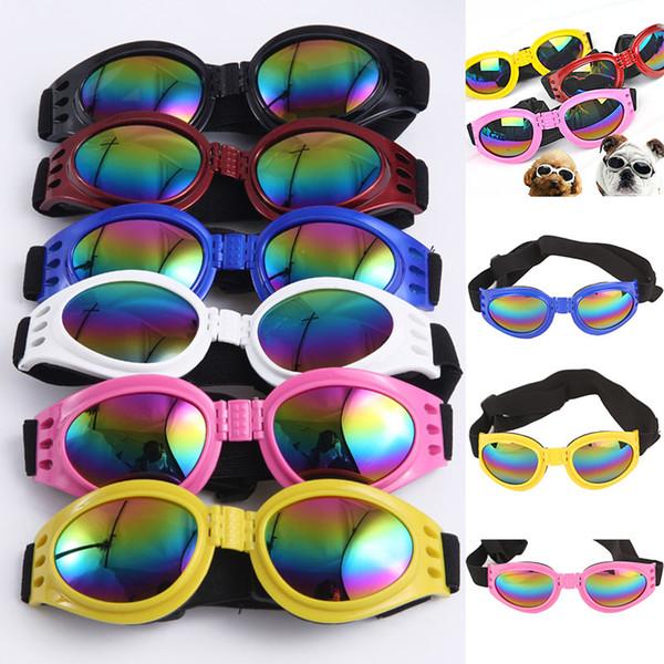 top popular New Dog Glasses Fashion Foldable Sunglasses Medium Large Dog Glasses Big Pet Waterproof Eyewear Protection Goggles UV Sunglasses WX-G14 2020