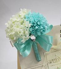 Tiffany Blue corsage