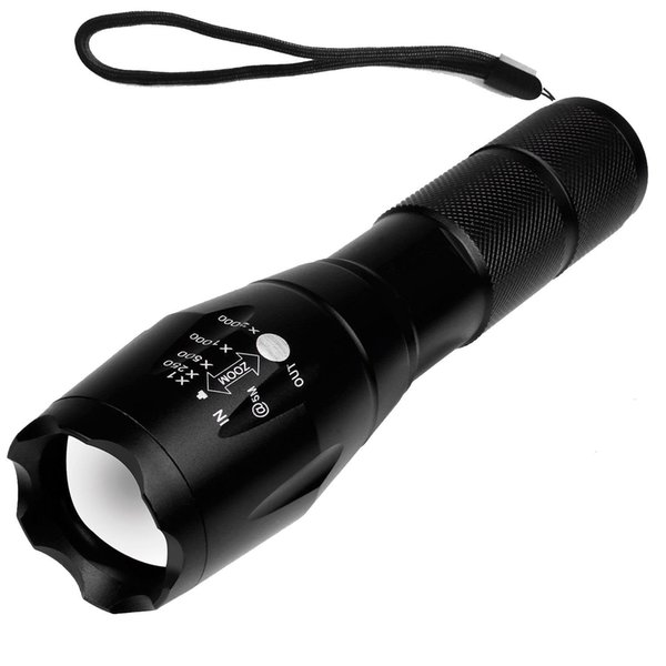 T6 High Powered Tactical Flashlight - Ultra Bright LED Handheld Flashlight Portable Outdoor Water Resistant Torch with Adjustable Focus
