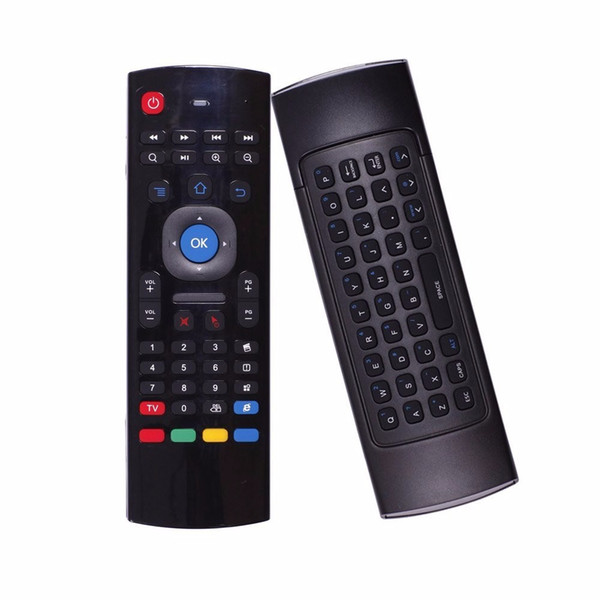 top popular X8 MX3 Air Fly Mouse Remote Control 2.4GHz Wireless Keyboard Somatosensory IR Learning 6 Axis for S905X T95X MXQ PRO 2021