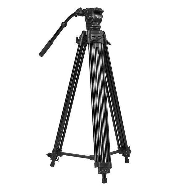 New WF718 Professional Video Tripod DSLR Camera Heavy Duty Tripod with Fluid Pan Head 1.8m high Load 8kg wholesale