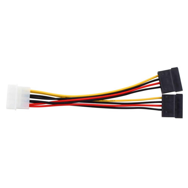 2000pcs/lot * 4pin Serial ATA SATA 4 Pin IDE Molex to 2 of double 15 Pin HDD Power Adapter Cable Hot Worldwide Promotion