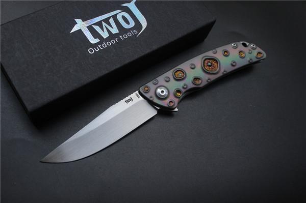 Couteau pliant TWOJ 3501 de haute qualité, Lame: S35VN (satin), Manche: Couteau pliant ED4 pour camping en plein air