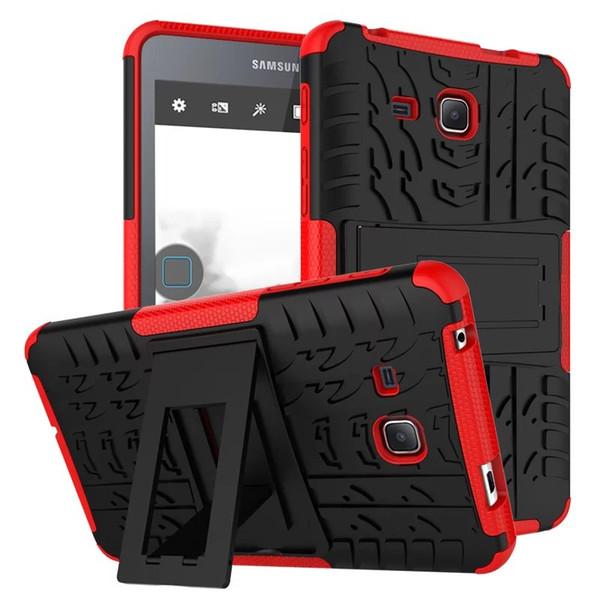 Para Samsung T280 Estuche rígido de plástico + TPU Combo híbrido Armor Volver cubierta protectora para Samsung Galaxy Tab A 7.0 SM-T280N T280 T285