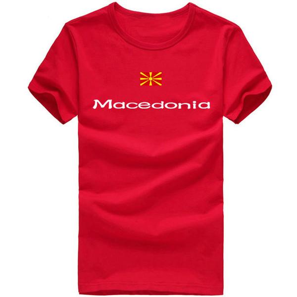 Macedonia T shirt Lovely sport short sleeve Training gym tees Nation flag clothing Unisex cotton Tshirt