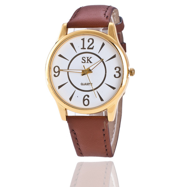 Free shipping Foreign trade sales in Geneva Geneva neutral watch Roman scale belt wrist watch Men and women casual watch