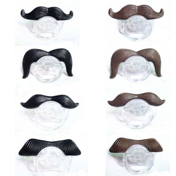 4 Styles Mustache Beard Fun Baby Pacifiers Teeth Nipples for Kid Children Photo Props Halloween Birthday Party Favors