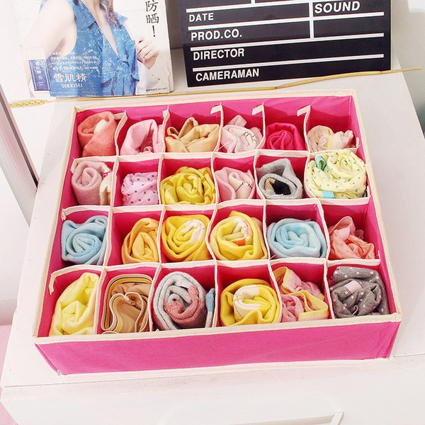 Home Storage Supply Storage Box Ties Socks Shorts Bra Underwear Storage Bins Cube Divider Closet Organizer Hot Sell 11fc J R