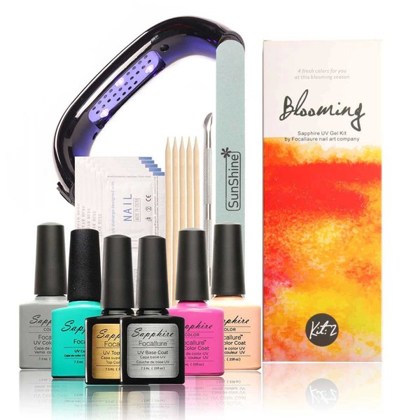 Wholesale Focallure Brand 4 Uv Gel Colors Gel Nail Polish +Base And ...