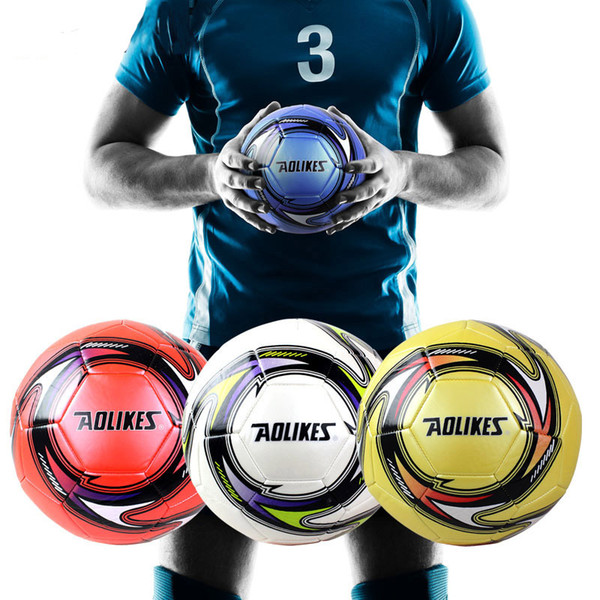 5# Match Competition Football Gift AOLIKES Brand Student Training Ball Wear Resistant High Elastic Soccer (Regular 11 People)
