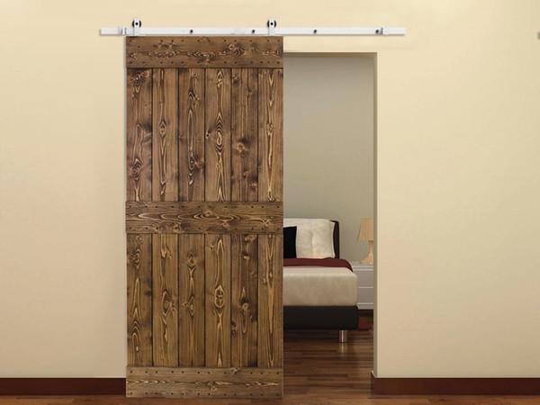 Acquista 5 16 FT Soft Off Single Single Style Kit Singola Porta Scorrevole  Bianco Moderna Scorrevole Barn Door Hardware Armadio Cucina Soft Close ...