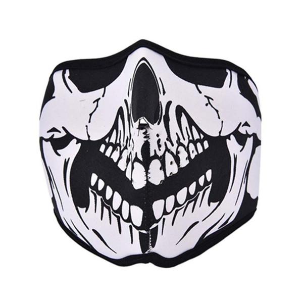 Al por mayor-Ciclismo al aire libre Motocicleta Diente Neopreno Ghost Skull Balaclava Máscara Headgear Bike Ciclismo de esquí al aire libre Half / Full Máscaras