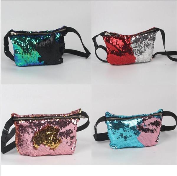 top popular New fashionable handbags on shoulder ladies' hand with sequins mermaid handbags multifunctional storage bag handbag 2019