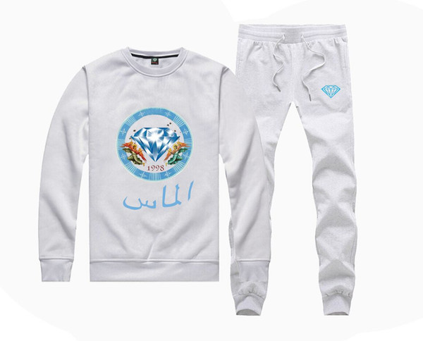 M62142815 Hot-sale Diamond Supply Sweatshirts +PANTS for Men and Women Fleece Lined Hip Hop Skateboard Crewneck hoodies S-5XL
