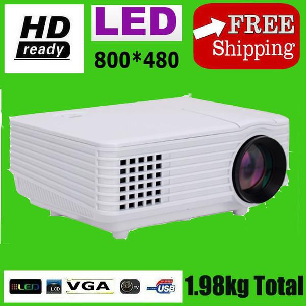 Wholesale-2015 Mini-LED-Projektor 1080P 2000 Lumen 1,4 kg Heimprojektor und Projektor hd Watching Football Game Kostenloser Versand