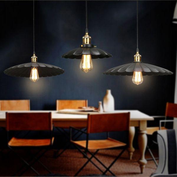 American country Iron pendant light creative personality Cafe Restaurant aisle bar pendant lamp retro little bar black dress pendant lights
