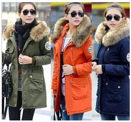 Women winter coat wadded jacket medium long plus size 4XL Parka fur collar thicken hood abrigos mujer female snow wear 623