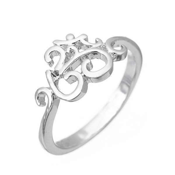 2019 Lemegeton Fishhook Wholesale Silver Plated India Hinduism Symbol Aum  OM Ohm Ring Yoga Women Ring Jewelry From Comejewelry, $0 82   DHgate Com