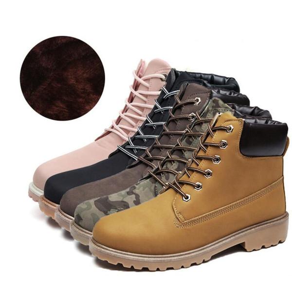 Großhandel 37 46 Big Size Herren Stiefel Casual Herren Damen Winterstiefel Lederstiefel Herren Winterschuhe Pelz Warme Schuhe Lover Schuhe Von