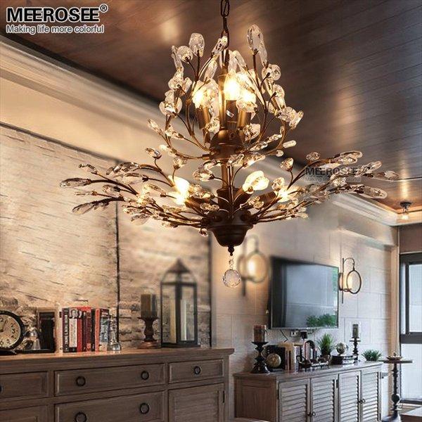 Vintage Kristall Kronleuchter Leuchte Im Amerikanischen Stil Lüster  Hängende Aufhängung Licht Esszimmer Wohnzimmer Lampe