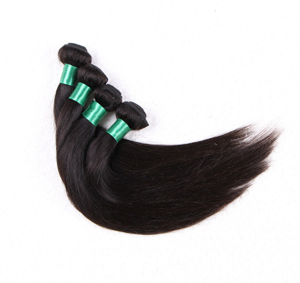 Grade 5A-Top Quality!!!! 100% Human Indian Hair Extensions Silk straight Double Weft No Shedding No Tangle 100g/pc& 4pcs/lot
