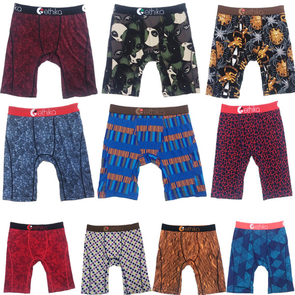 top popular Free shipping Random colors Ethika Men's boxer underwear sports hip hop rock excise underwear skateboard street fashion quick dry US size 2021