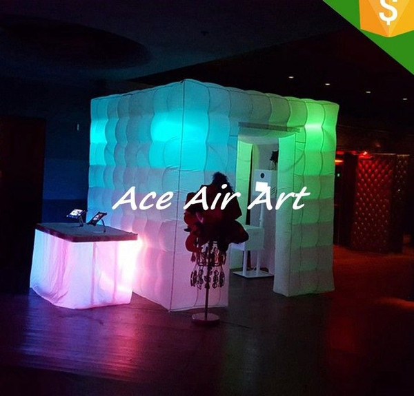 rental 8ft photo booth kiosk inflatable photo booth tent for wedding party event decoration
