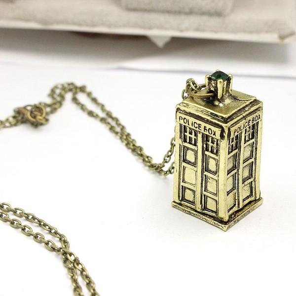 Doctor Who Tardis Zaman Efendisi Kolye Kolye Sonic Tornavida Kasık Kutusu Antika Altın Kutusu Kolye Kadın Erkek Ücretsiz Nakliye Için