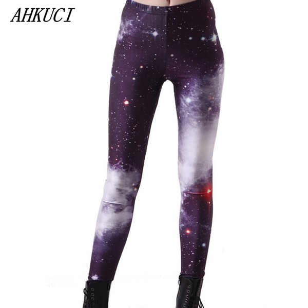 Wholesale- 2016 New Design Women Colorful Galaxy Leggings Universe Space Riddler Legging 3D Printed S-5XL Plus Size Slim Pantalon Mujer