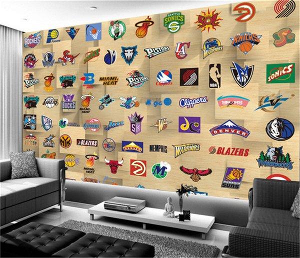 Acheter En Gros Personnalisé Basketball Sport Murale 3d Murale Murale Pour Salon Tv Fond Papier Peint 3d Mur Photo Murale Fresque De 21 36 Du