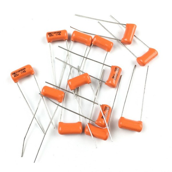 best selling USA Orange SBE Capacitor Electric Guitar Bass Tone Capacitor 0.047uf 473J   0.022uf 223   0.033uf 333J   0.068uf 683  10 piece