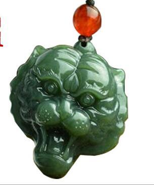 Free shipping hetian jade pendant Jade carved tiger pendants Male money jade pendant
