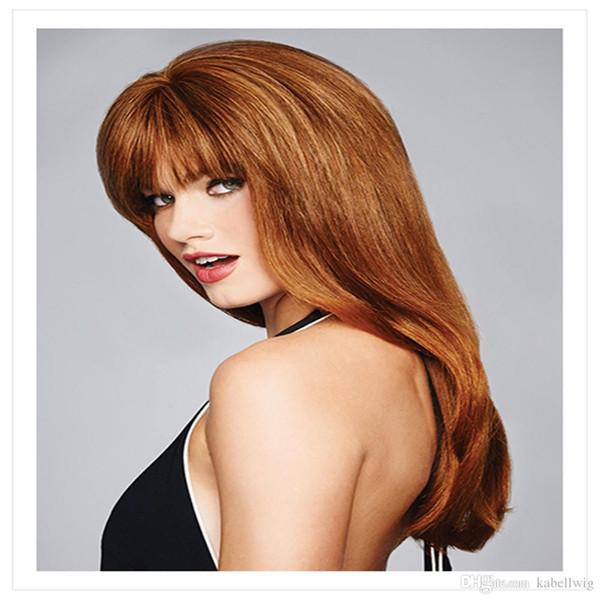 MONO Peruk Tutkalsız Tam Dantel İnsan Saç Peruk Düz Doğal Renk Açık Kahverengi brezilyalı Remy Saç Peruk Bebek Bebek Saç Ile 130% Yoğunluk 100%