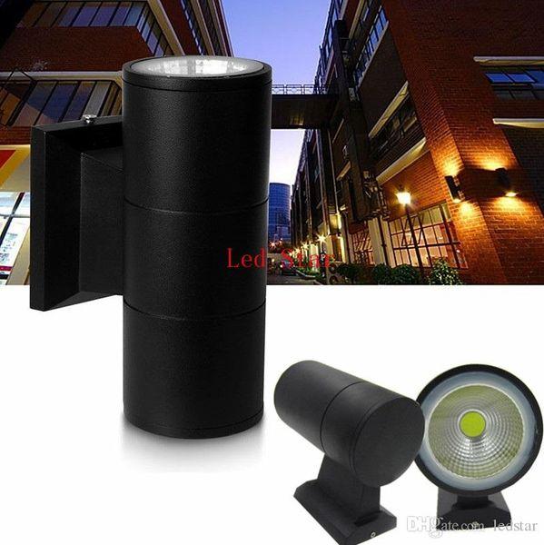 COB 2 * 10 W 20 W Ao Ar Livre Luzes de Parede LED IP65 À Prova D 'Água Arandela de Parede Para Baixo Para Baixo de Alumínio Moderna Parede Luminária Para Casa Jardim Decoração Lâmpada