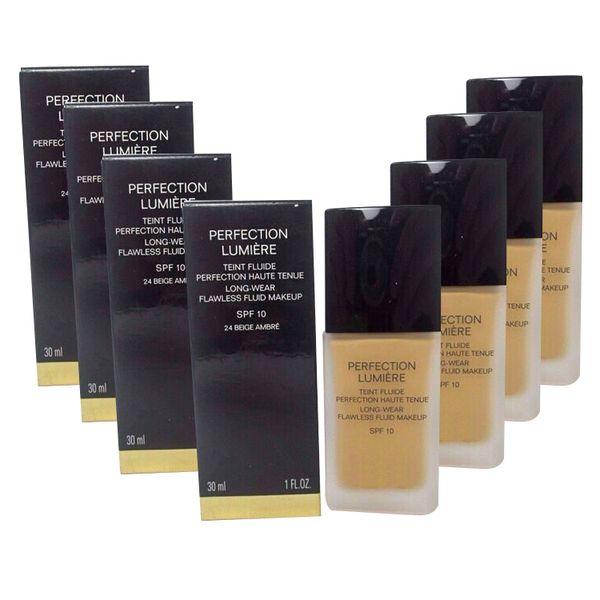 Hot Brand C líquido Perfection Lumiere foundation Sp10 corrector largo uso 30ml 12pcs cada tono o múltiple 12