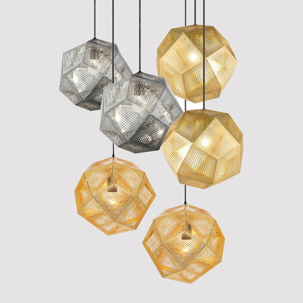 Vintage Industrial Geometry Restaurant Pendant Light Hotel/Bar Pendant Lamps Stainless Steel Art Net Hanging Lighting Fixtures