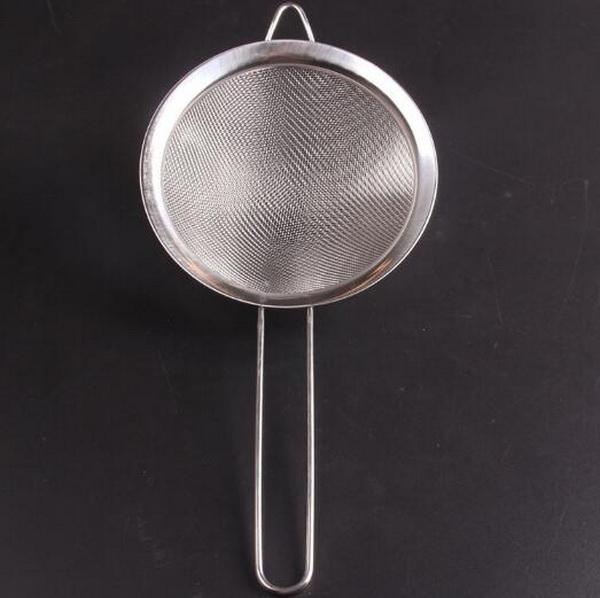 10pcs/lot, 14cm Diameter, 5cm deep Stainless steel Mesh Strainer - New Arrival Colander Oil Drain Oil Network Kitchen